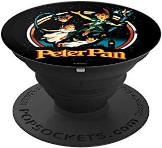 Disney Peter Pan Group Shot Night Flying Vintage Poster PopSockets Grip and Stand for Phones and Tablets