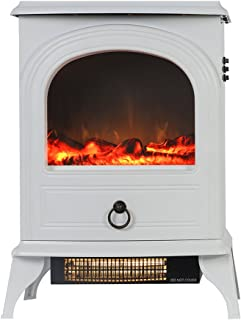Valuxhome 22 Inches Home Heater Electric Fireplace Stove, 1500W, White