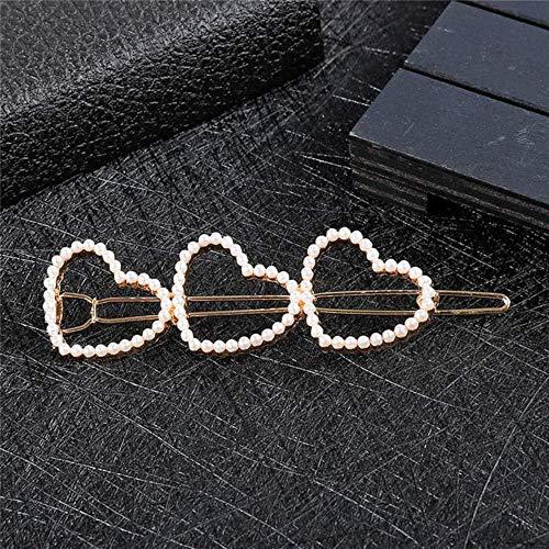 Korea imitatie parels hart ster haarspelden vrouwen mode liefde kus brief haarspeld goudkleur haarspelden haaraccessoires, stijl 04