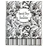 Monthly Greeting Card Keeper and Organizer Book - Special Days to Remember - Elegant Gray Design