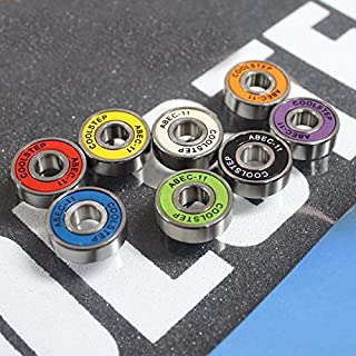 8 Pack ABEC-11 608ZB Skateboard Bearing High Speed Roller Skates Inline Skates Longboard Colorful Bearings Set
