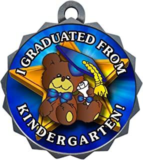Express Medals 1 to 50 Packs Kindergarten Graduation Silver Medal Trophy Award with Neck Ribbon D214-FCL499