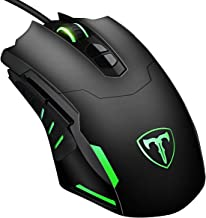 VicTsing Gaming Mouse Wired, 7200 DPI Programmable Breathing Light Ergonomic Game USB Computer Mice RGB Gamer Desktop Laptop PC Gaming Mouse, 7-Button Design, for Windows 7/8/10/XP Vista Linux - Black