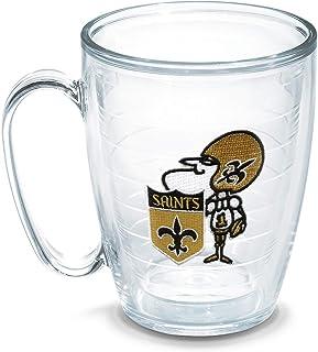 Tervis NFL New Orleans Saints Legacy Emblem Individual Mug, 16 oz, Clear