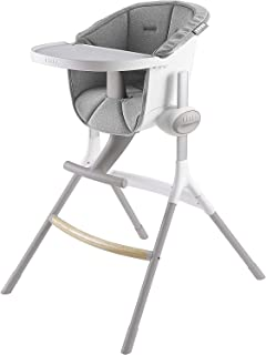 BEABA Up and Down High Chair, Grey/White,
