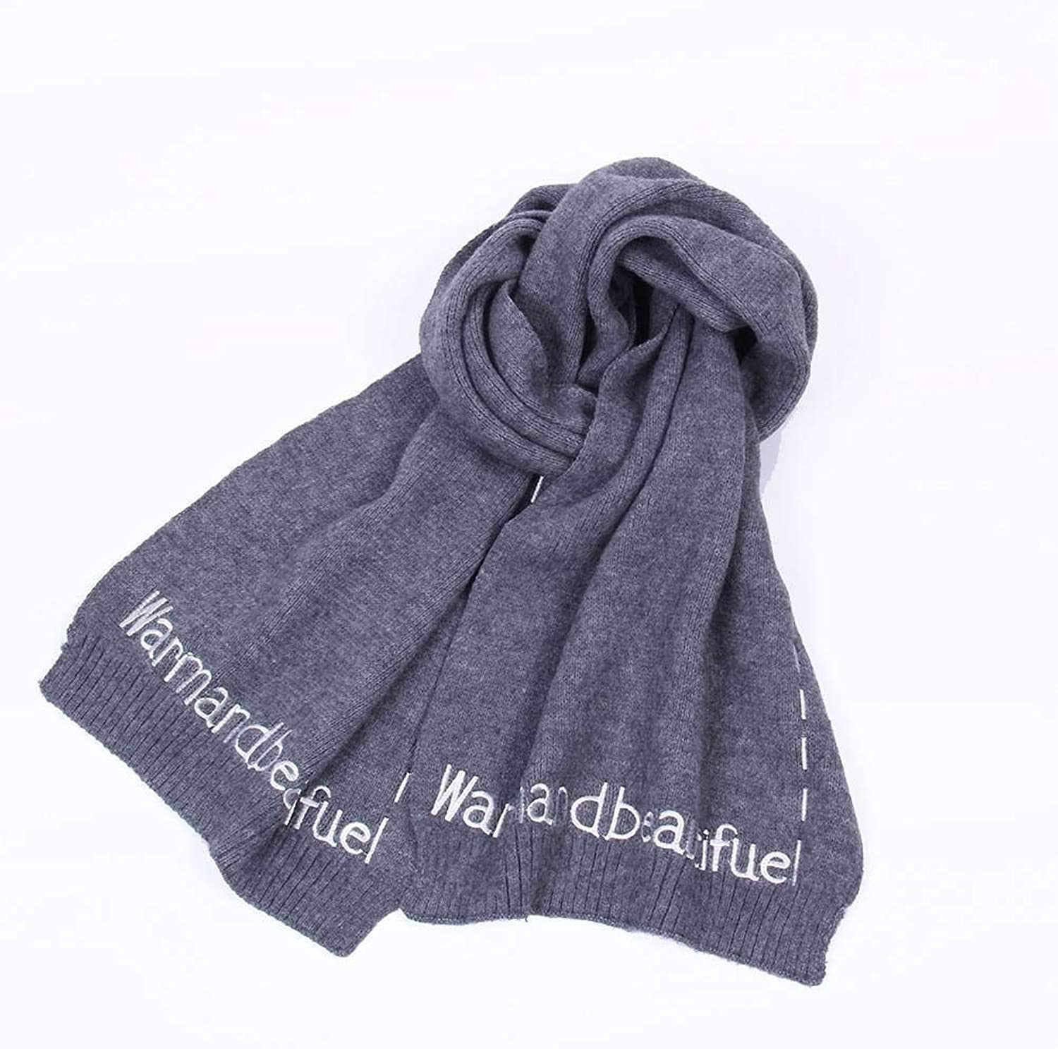 WJL European American Streets, Wool, Knitting, Women, Warm, Monochrome, Long, Autumn Winter, Outdoor, MultiFunctional Fgreyion, Wild, Warm, Shawl, Scarf, Gift