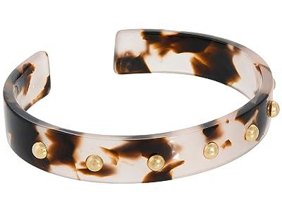 SOLE / SOCIETY Cuff (12K Soft Polish Gold/Rose Dusk Tortoise Shell) Bracelet