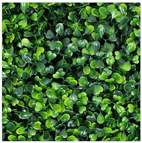 Djqw Künstliche Hecke Efeu grüne Hecke Hintergrund Kunststoff Sichtschutz UV-Schutz für Balkon Garten Rankhilfe