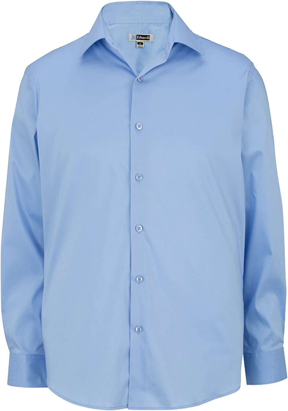 Ed Garments Men's Cotton/Poly/Spandex Tailored Fit Spread Collar Dress Shirt