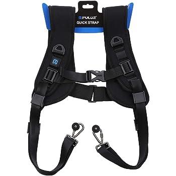 Professional QUICK RAPID macchina fotografica doppia spalla cinghia nero cintura DOPPIO COLLO Sling