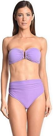 b0e3490832 Lenny Niemeyer High Waist Ruched Bikini Bottom in Quartz