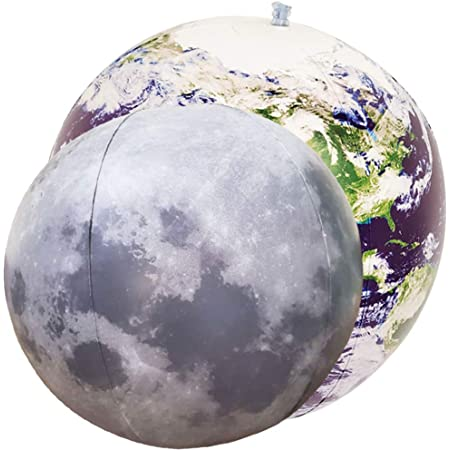 Inflatable Astronaut Earth Moon and Rocket for Boys and Girls Ideal for Birthday