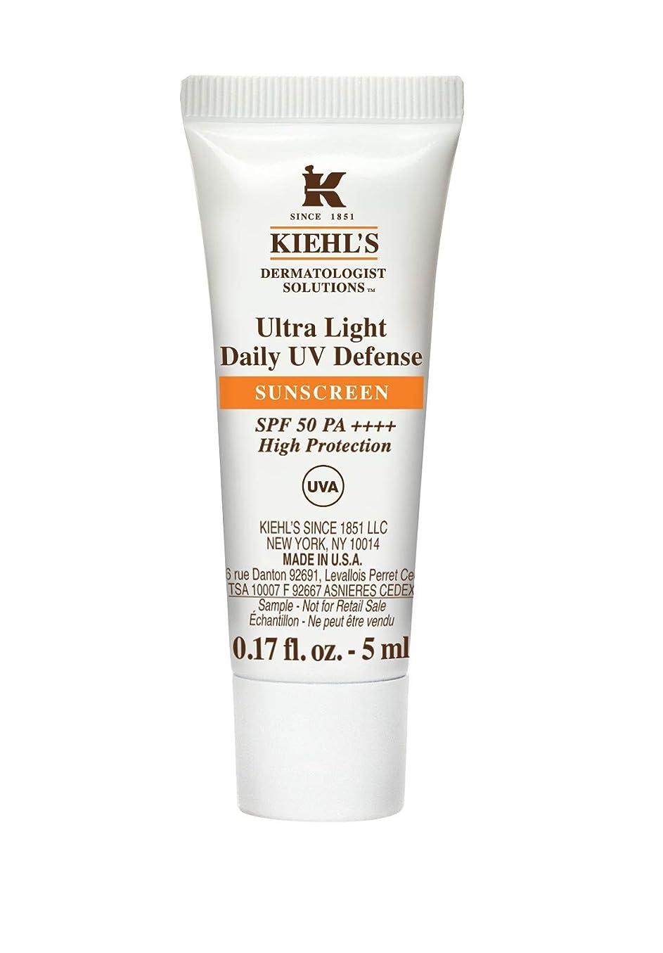 練習亡命デコラティブKiehl's(キールズ) キールズ UVディフェンス 5mL / KIEHL'S Ultra Light Daily UV Defense Sunscreen SPF 50 PA++++