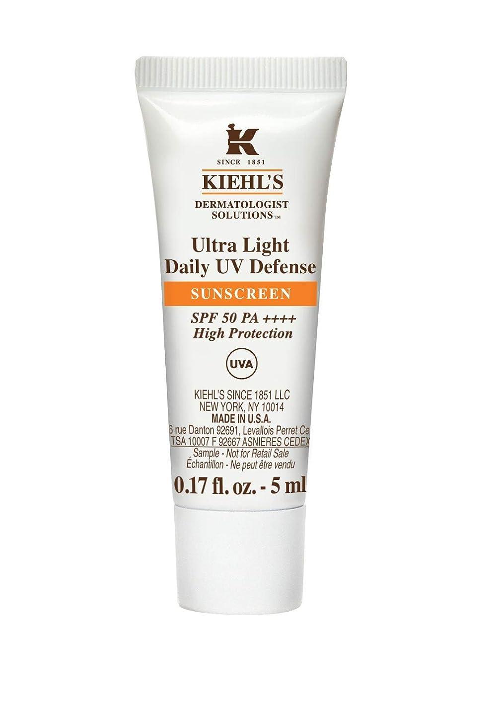 祝福裏切り者ビスケットKiehl's(キールズ) キールズ UVディフェンス 5mL / KIEHL'S Ultra Light Daily UV Defense Sunscreen SPF 50 PA++++