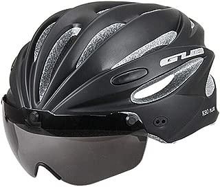 Casco de bicicleta con anteojos magnéticos extraíbles, visera para bicicleta de montaña y de carretera, cascos de ciclismo ajustables para adultos, hombres, mujeres y jóvenes, para ciclismo, montaña/carretera