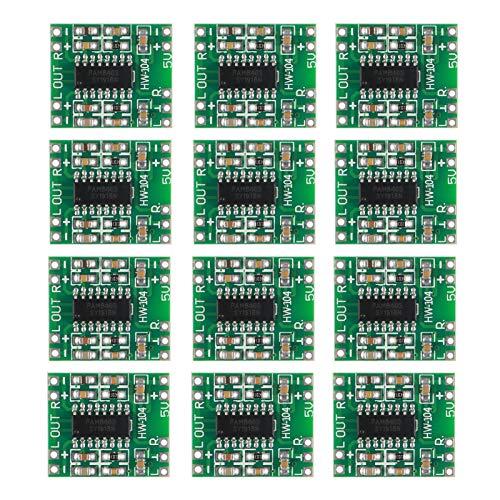 ACEIRMC 12pcs PAM8403 Module Super Mini Digital Amplifier Board 2 3W Class D Power Amplifier Board efficient 2.5 to 5V Input