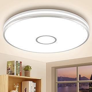 Luminaire Plafonnier Chambre LED Lampe Plafond Öuesen 40W 3800LM Φ38cm IP44 4000K Blanc Naturel Brillant Moderne Rond Plaf...