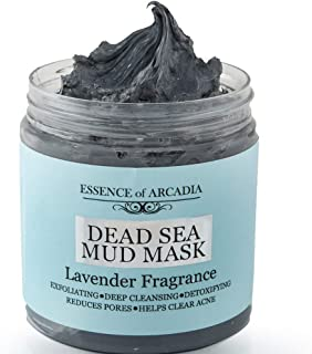 Dead Sea Mineral Mud Mask Scented with Lavender for Face and Body - 100% Natural Minerals - Minimize Pores,...