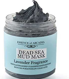 Dead Sea Mineral Mud Mask Scented with Lavender - 100% Natural Minerals - Minimize Pores, Remove Blackheads, Reduce Acne and Wrinkles for Men and Women, a Visibly Healthier Complexion (8.8 oz/250 gr)