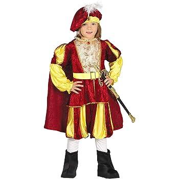Amakando Majestuoso Disfraz de príncipe para niño / Rojo-Dorado 5 ...
