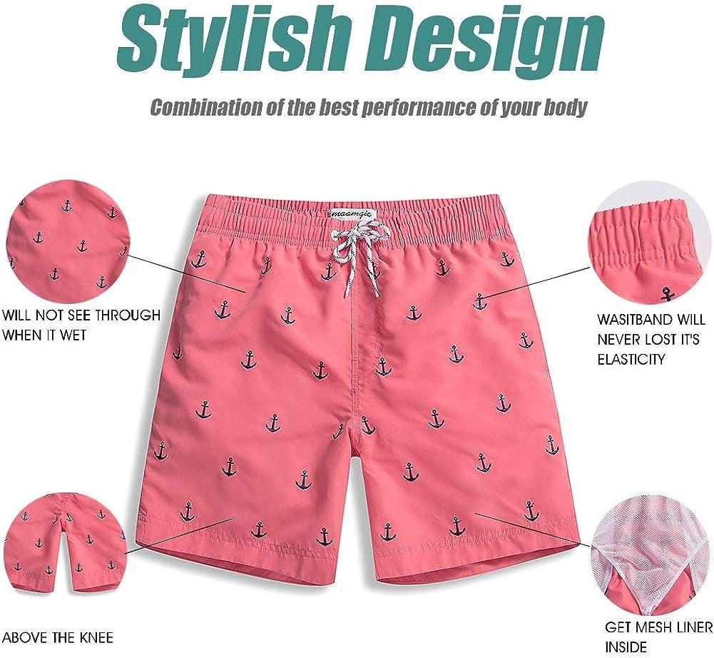 maamgic Mens Swim Trunks Quick Dry Swim Shorts with Mesh Lining Funny Swimwear Bathing Suits