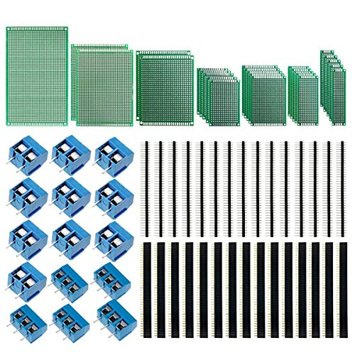 5Pcs Double Side Prototype PCB Board 2*8 2×8 cm 1.6mm 2.54mm for Arduino