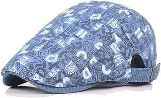 Forward Cap Beret Cap Wool Ladies Denim Men's Retro Cap Visor Hat Casual Accessories (Color : Light blue, Size : 56-58cm)