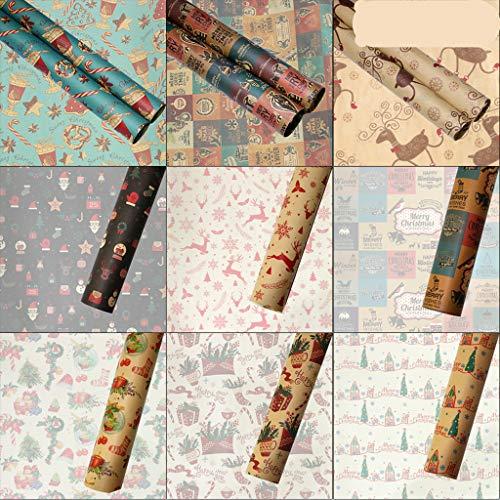 N/A. 5 piezas retro elemento de Navidad envoltura de papel kraft decoración de boda envoltura de regalo Artware embalaje vitela papel origami hecho a mano decoración de papel