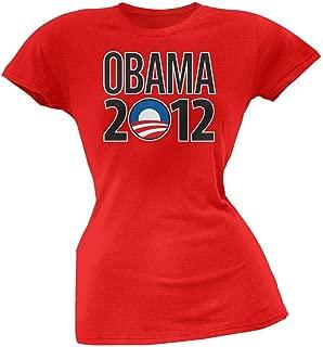 Obama - 2012 Rising Sun Logo Red Juniors T-Shirt