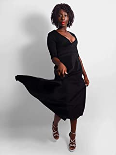 Madame V-Front Maxi Dress