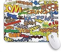 VAMIX マウスパッド 個性的 おしゃれ 柔軟 かわいい ゴム製裏面 ゲーミングマウスパッド PC ノートパソコン オフィス用 デスクマット 滑り止め 耐久性が良い おもしろいパターン (ユニークなレトロコミック式ユーモアアイコン漫画悲鳴クラッシュ捕虜ヴィンテージ多色)