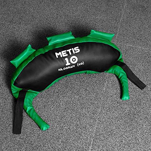 METIS Saco Búlgaro Lastrado – Variedad de Pesos Desde 5kg hasta 25kg | Material Fitness Musculación para Entrenar en Casa o en el Gimnasio (15KG)