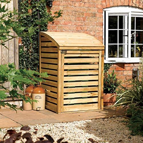 Rowlinson BINSML1 Single Bin Store, Natural Timber Finish, 1