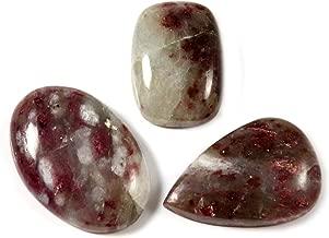 Gems&Jewels Matrix Pink Tourmaline Natural Cabochon Gemstone 3 Pcs Wholesale Lot 74ct LAY89