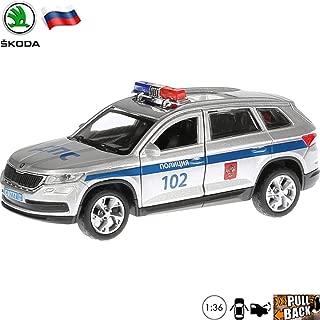 1:36 Scale Diecast Metal Model Car Skoda Kodiaq Crossover SUV Russian Police Die-cast Toy Cars