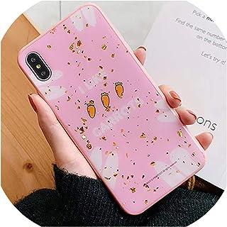 高級ゴールド箔ブリンブリン電話ケースFor iphone X XR XS最大グリッターかわいいアンチノックFor iphone 7 8 6 6 sプラス素敵なカバー,For iphone X,C3