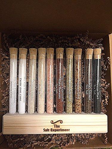 Gourmet Salt Gift Set - 10 Delicious, Natural Finishing Salts from across the Globe! - 10 Test Tube Sampler