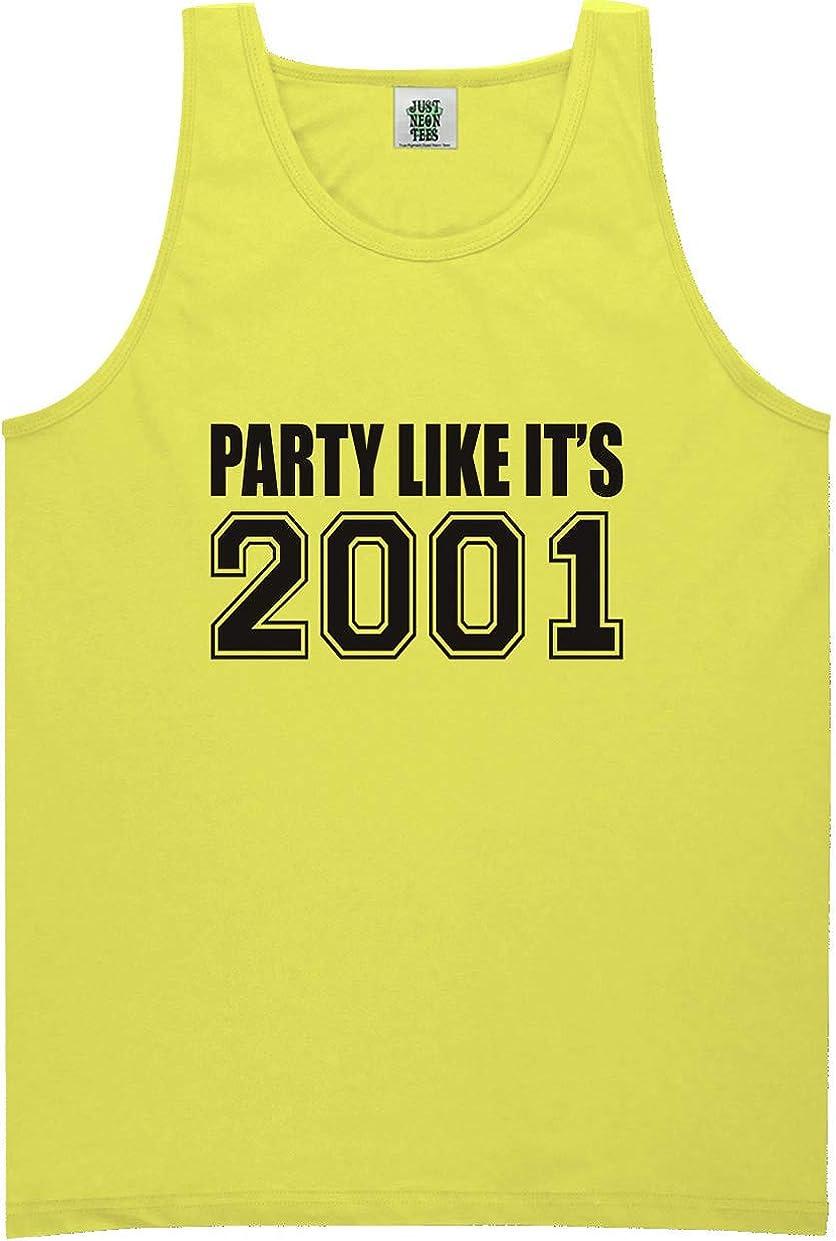 zerogravitee Party Like It's 2001 Bright Neon Tank Top