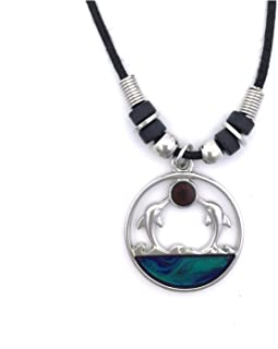 ™ Mood Pendant Necklace - Dolphin Twins
