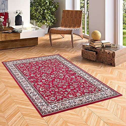 Pergamon Orient Teppich Trendline Rot Bordüre in 5 Größen