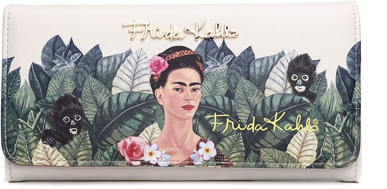 Frida Kahlo Licensed Trifold Wallet, Jungle Collection