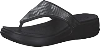 Crocs Monterey Metallic Wedge Flip, Sandale cale Femme