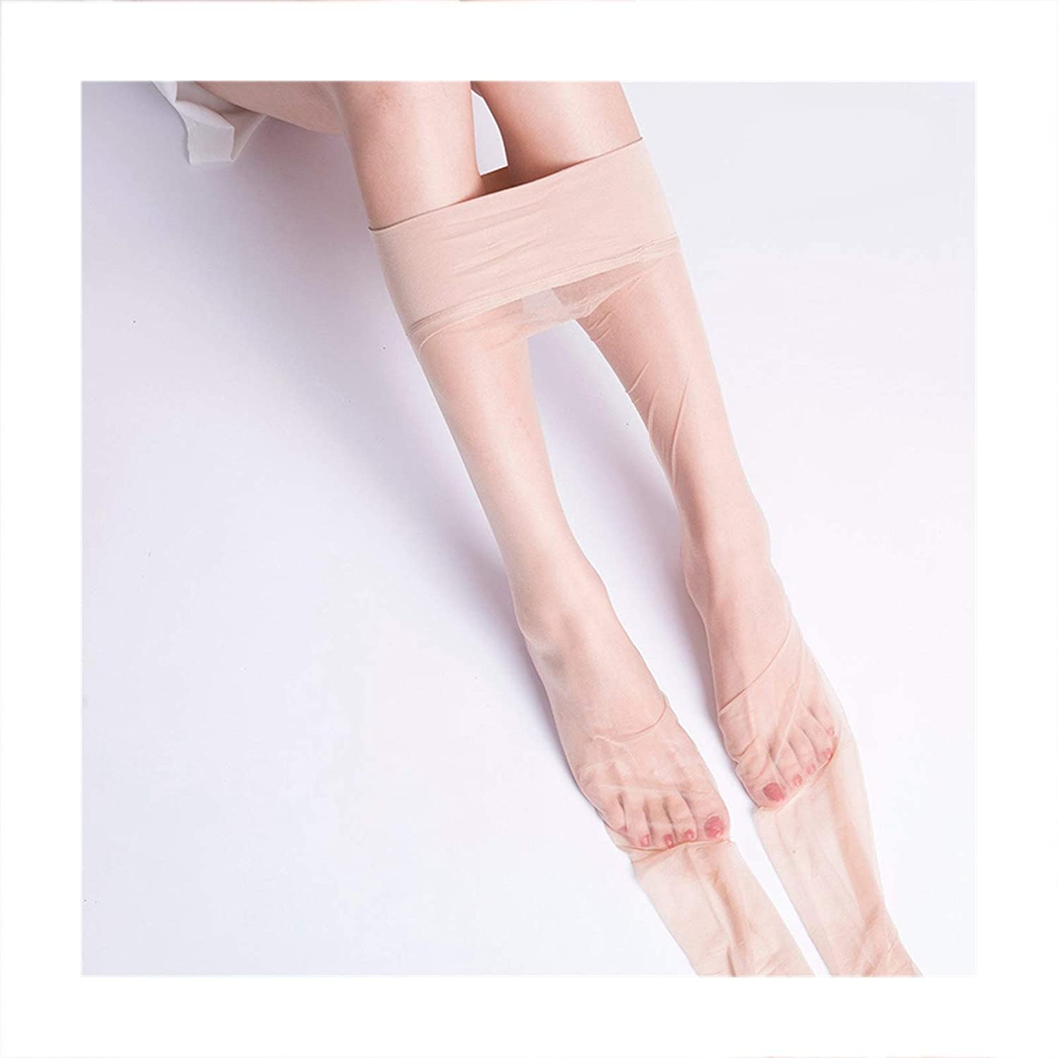 Linyuex Sexy Women's Toe Transparent Traceless Pantyhose Seamless Stockings Nylon Ultra Thin Stretch Tights Sexy Lingerie (Color : Pink Skin)