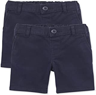The Children's Place girls Toddler Uniform Chino Shorts 2-Pack Shorts