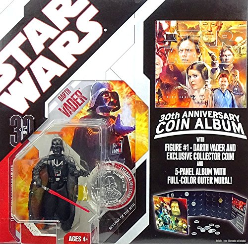 Hasbro Star Wars Darth Vader Action Figure with Collectors Coin Album by