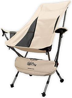 OutPort アウトドアチェア ハイバック 折りたたみ イス 軽量 コンパクト キャンプ 椅子 リクライニング