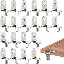 Planksteunen, 20 stuks, 5 mm L-vorm, metaal, plankdrager, vloerdragers voor keukenkast, boekenrek, kast, steunen, vernikke...