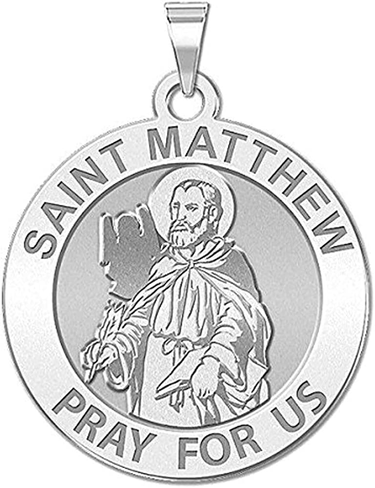 PicturesOnGold.com Saint Matthew Max 47% OFF Religious Medal 3 Size Inch - 4 Super popular specialty store