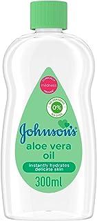 JOHNSON'S Baby Moisturising Oil, Aloe Vera, 300ml