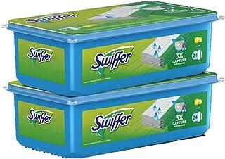 Swiffer Lingettes Humides pour Balai, Attrape-Poussière, 48 Lingettes